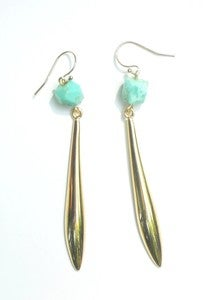 Image of Chrysoprase Drop Earrings 