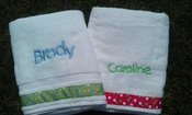 Image of Embroidered Towels for the Tub, Beach, or Pool