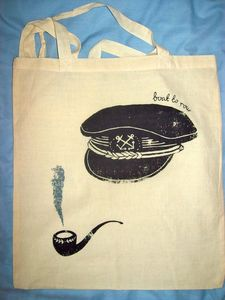 Image of Hat and Pipe Tote Bag