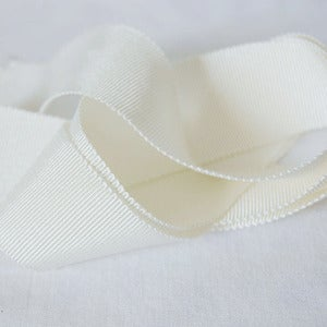 Image of Petersham Ribbon - Cream