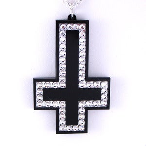 Image of Crystal Inverted Cross Necklace