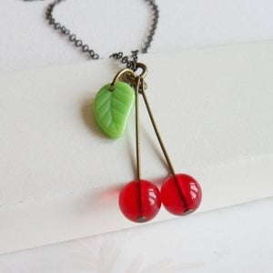Image of Quirky Cherry Necklace