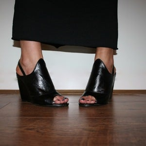 Image of Black Wedge Heels