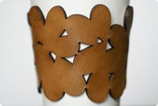 Image of leather cozy/cuff SNAP - mocha brown