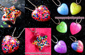 Image of Heart and Star Necklaces