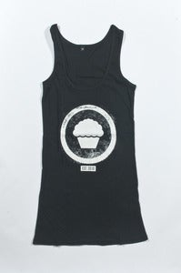 Image of Emblem Vest Dress - Girls Black