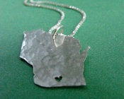 Image of Wisconsin State Necklace