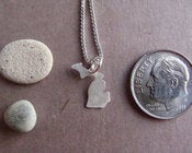 Image of Tiny Michigan State Necklace