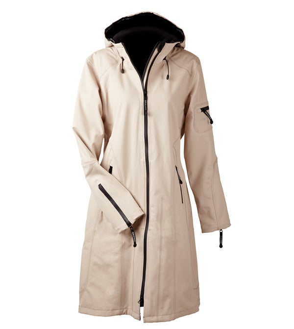 Image of Ilse Jacobsen Full Length Raincoat - Sesame