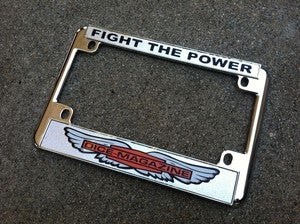 Image of CHROMED LICENSE PLATE FRAME