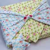 "Image of Garden Flannel Baby Blanket Wrap (34""x34"") PLUS Lovey"