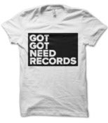 Image of Got Got Need Records | Box T-shirt | White (LADIES' LARGE ONLY)