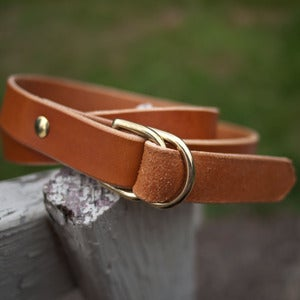 Image of The F/M x W&amp;F D-Ring Belt - 1in Tan/Brass