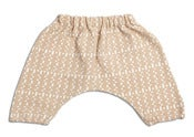 Image of Alphabet Harrem Pants - Biscuit