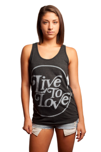 Image of Black Circle Logo Tank Top