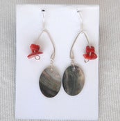 Image of fish lure inspired abalone shell & red coral