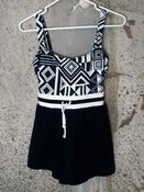 Image of Swimsuit Romper - Black White