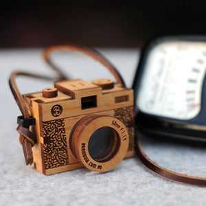 Image of Wooden Camera Necklace