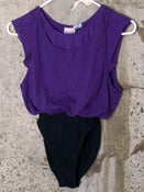 Image of Multi-Layered Leotard - Purple, Black