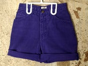 Image of MODA INT'L - Purple Denim Shorts