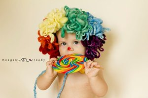 Image of Clown Bonnet Crochet Pattern