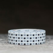 Image of Black & White Polk-a-Dot Japanese Washi Tape