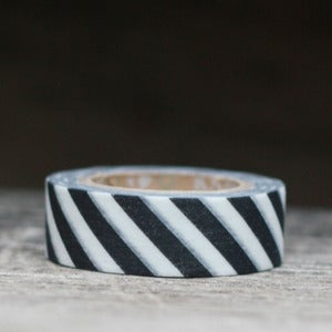 Image of Black & White Airmail Japanese Washi Tape