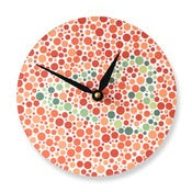 Image of Colorblind Clock With Heart