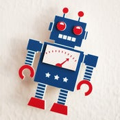 Image of Retro Robot Brooch