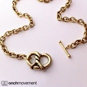 Image of Onch Movement Gold Pretzel Choker