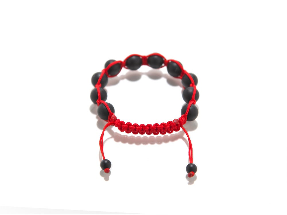 Image of Red Silk w/ Matte Black Onyx