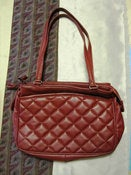 Image of Dark Wine Quilted Purse