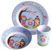 Image of CLEARANCE 50% OFF-Child Melamine Set/Japanese Doll- WAS $29.94 NOW ONLY