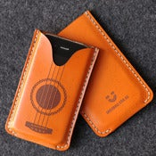 Image of iPhone Leather Case with back pocket - Ukulele