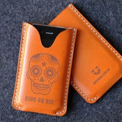 Image of iPhone Leather Case with back pocket - Ride Or Die