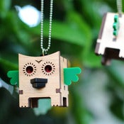 Image of Cube Owl Necklace