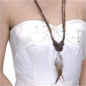 Image of SALE! Feather Necklace - Bohemian Style - Natural Elements