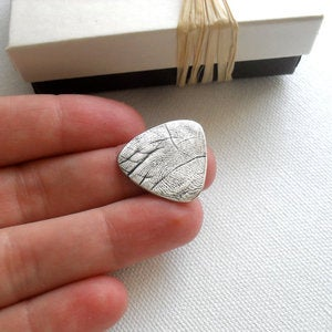 Image of Fingerprint Guitar Pick Keepsake in Fine Silver (Style#701)