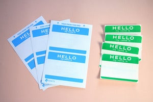 Image of Vintage Hello labels