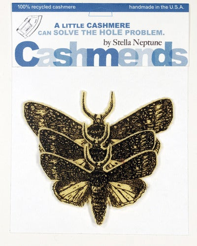 Image of Iron-on Cashmere Moths - Yellow
