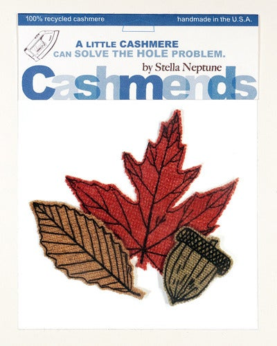 Image of Iron-on Cashmere Leaves - Early Autumn