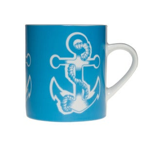 Image of Whitby Porcelain Mug - Anchor