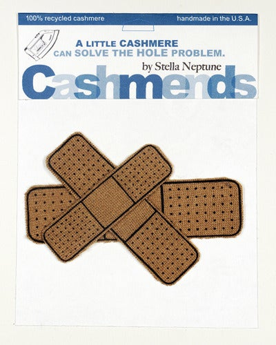 Image of Iron-on Cashmere Band-Aid - Camel