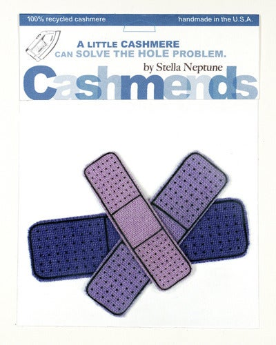 Image of Iron-on Cashmere Band-Aid - Triple Purple