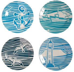Image of Whitby Porcelain - Tea Plates Set