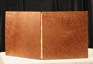 Image of 12x12 Leather Photo Album, Scrapbook, Custom Handmade Wedding