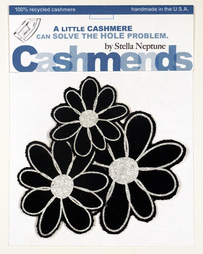 Image of Iron-on Cashmere Flower - Black