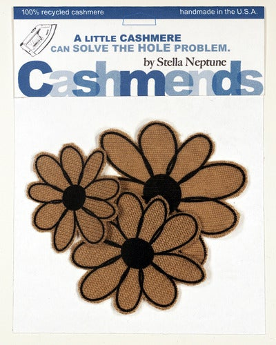 Image of Iron-on Cashmere Flower - Camel