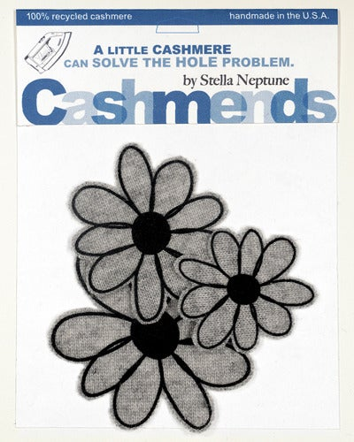 Image of Iron-on Cashmere Flower - Light Grey