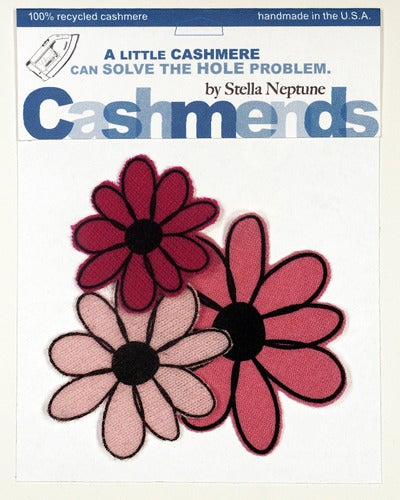 Image of Iron-on Cashmere Flower - Triple Pink